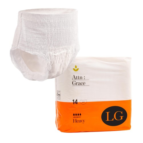 Attn: Grace Pull-up Incontinence Brief - Large (14 Pack)
