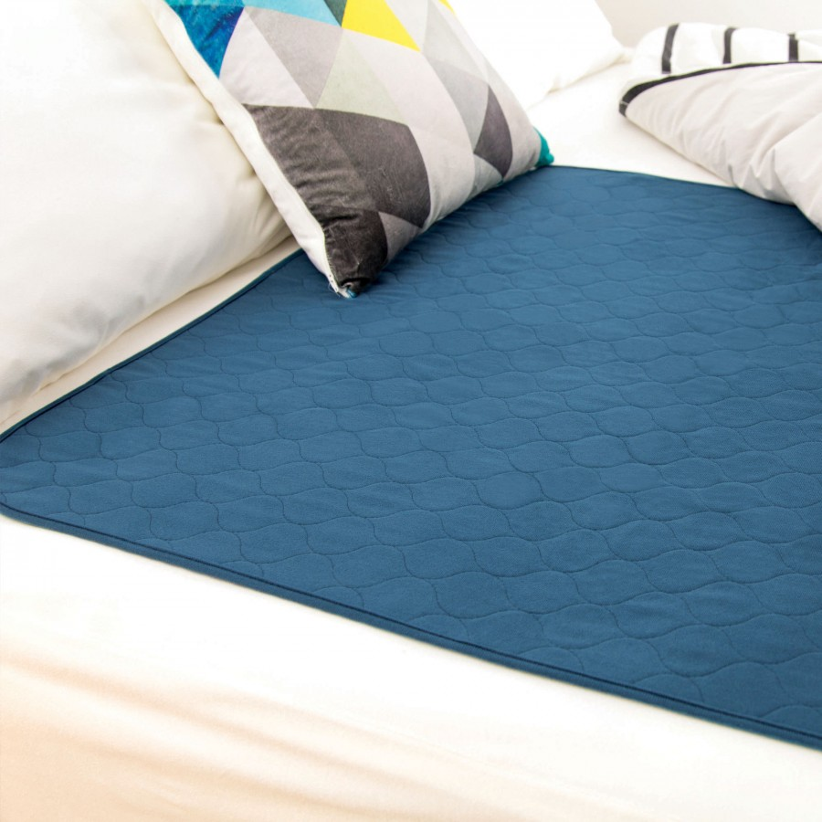 Conni Reusable Bed Pad Teal Blue - 2PACK