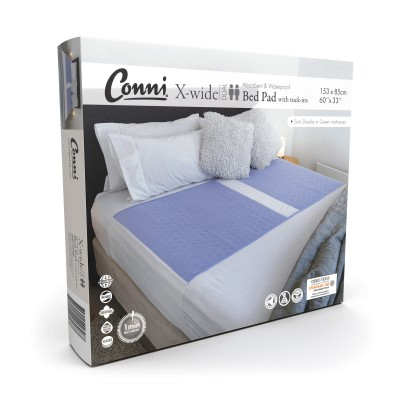 Conni X-wide Dual Reusable Bed Pad with Tuck-ins - Mauve