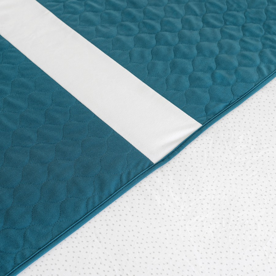 Conni X-wide Dual Reusable Bed Pad with Tuck-ins Teal Blue - 2PACK