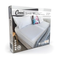Conni X-wide Dual Reusable Bed Pad with Tuck-ins - White