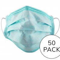 Disposable Protective Face Mask (17.5 x 9.5cm) - Pack of 50 masks
