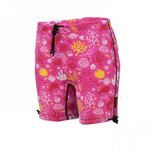 Kids Containment Swim Short - SUNSET PINK **