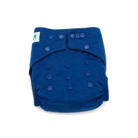 Modern Cloth Nappy – 4mo to 2.5yr – includes 2 inserts – Midnight Navy