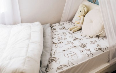 Conni Kids Bed Pad on Childs Bed